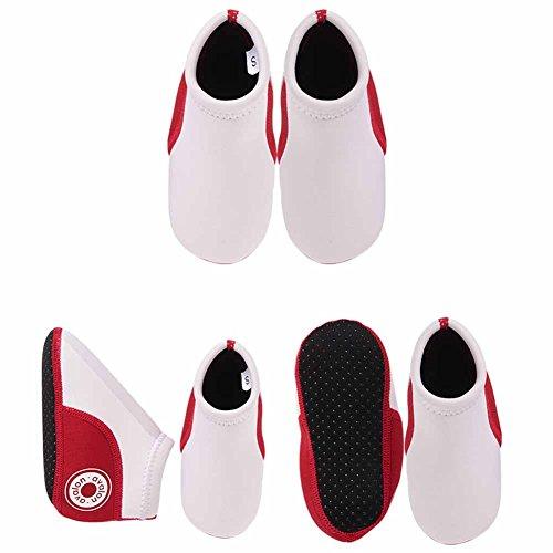 Vine Unisexe Bébés filles garçons Swim Shoes Shoes Infant d'eau Plage Chaussures Chaussures bébé Néoprène Padder doux, blanc 15cm White