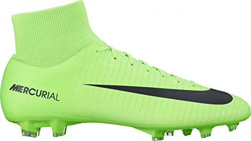 Nike Mercurial Victory VI Df FG, Scarpe da Calcio Uomo, Multicolore (Electric Green/Black-Flash Lime-White), 42.5 EU