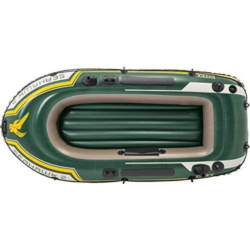 Gyfy barca gonfiabile a due persone ecologica in gomma pvc a remi barca da pesca barca addensata rete con pompa a pale