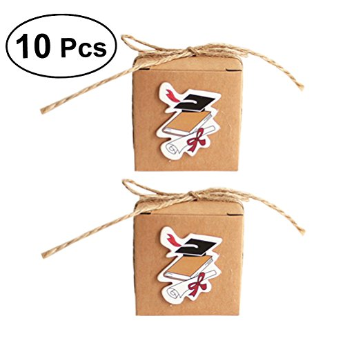 raduation zugunsten Boxen Graduation Cap Hut Candy Boxen geschenkboxen Graduation Party Favors Supplies ()