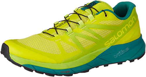 Salomon Sense Ride, Scarpe da Trail Running Uomo, Giallo (Sulphur Spring/Lime Green/Deep Lake 000), 44 2/3 EU