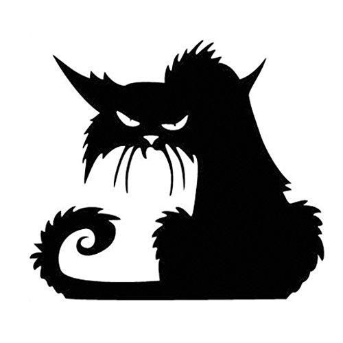 Halloween Terror Katze Schaufenster Wandaufkleber Wohnkultur Zimmer Wandtattoo Art