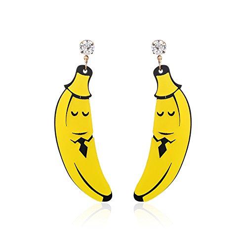 htklub Übertreibung Frucht Ohrringe-Banane (er005553-3) (Halloween-party-themes 2017)