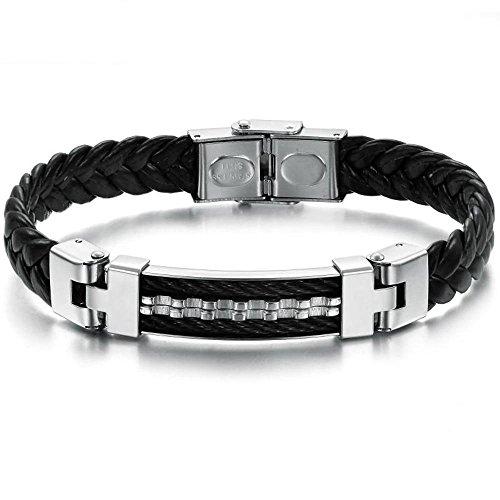 Aoligei Geschenke-Titan-Stahl-Armband für die Männerhaut
