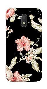 Kaira High Quality Printed Designer Back Case Cover For Motorola Moto E3 Power(blackflower)