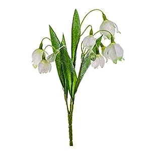 WEFLOWERSImporta 30cm Arbusto de Campanilla Artificial