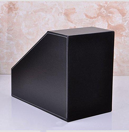 Soporte de libros Rack de archivos Creative Office Supplies 18 * 27 * 34 / 11.5 Cm Negro ( Color : Negro )