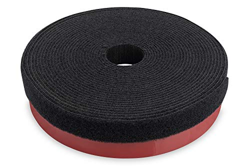 DIGITUS Pilzkopf-Klettband Kabelmanagement-System - 5m Rolle Selbstklebend (4 kg/cm²) - 10m Flausch-Klett-Band