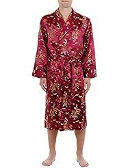 Lloyd Attree & Smith - Robe de Chambre en Viscose - Bordeaux - Homme
