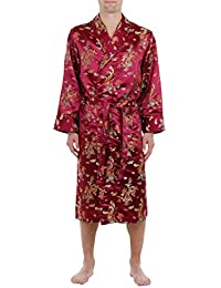 Lloyd Attree & Smith - Robe de Chambre en Viscose - Bordeaux - Homme