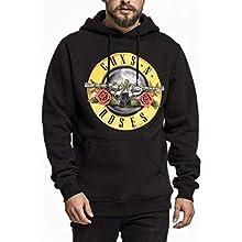 MERCHCODE Guns n' Roses Logo Hoody Sweatshirt Men's, Black, L