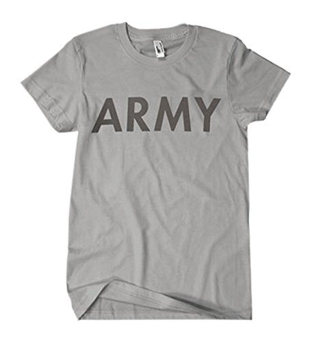 Outdoor Uomo Army riflettente su due lati impresso T-Shirt 3X Grande Heather Grey
