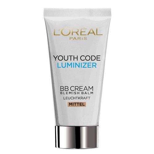 L'Oréal Paris Youth Code Luminizer BB Cream Medium/Dunkel, 50 ml (Loreal Youth Code)