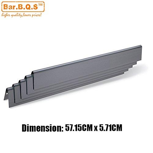 Bar. b.q.s Ersatz Porzellan Stahl Flavorizer Bars/Wärme Teller Hitzeschild für Weber Genesis silber B und C, Geist 700, Gold B & C, Genesis Platinum B & C, Weber 900(57.15cm X 5,71cm