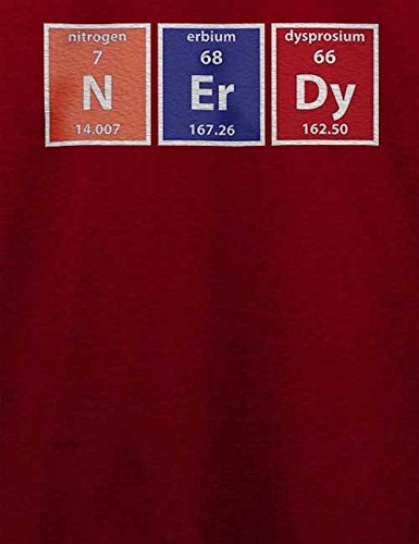 Nerdy Elements T-Shirt Bordeaux