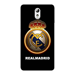 Wrapit Sports Realmadrid Hard Back Case Cover For Lenovo Vibe P1M