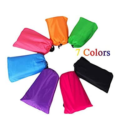 SUPER-BAB Fast Inflatable Lazy bag with Carry Bag Air Hammock Nylon Lounger Laybag Outdoor Flocked Camping Portable Beach Bed Sleeping Bags - inexpensive UK light shop.