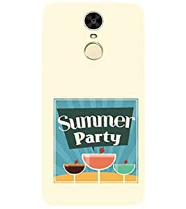 For Huawei Enjoy 6 summer party ( summer party, glass, yellow background, good quotes ) Printed Designer Back Case Cover By FashionCops