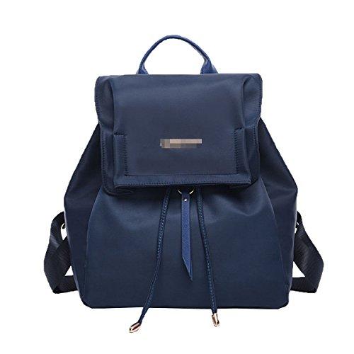 Zaino Da Scuola In Nylon Classico Per Donna Lady College Laptop Zainetto Impermeabile Zainetto Borsa Multicolor Blu