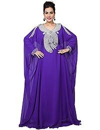 Bedi's UAE Style Femmes Farasha Maxi Arabe islamique Kaftan Longue Robe - Taille Unique