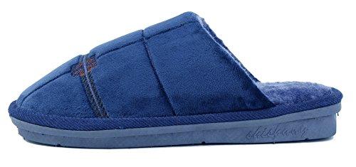Scarpe Ageemi Unisex Adulto Tondo Pantofole Infradito Pantofole Piatte Blu