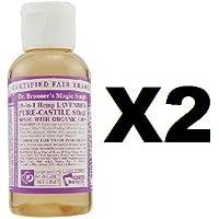Dr. Bronner 's Liquid Bio Pure Kastilien Seife Lavendel 60-(2er Pack)