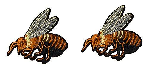 abeille-lot-de-2-ecusson-thermocollant-8x65cm-patche-badge-veste-miel