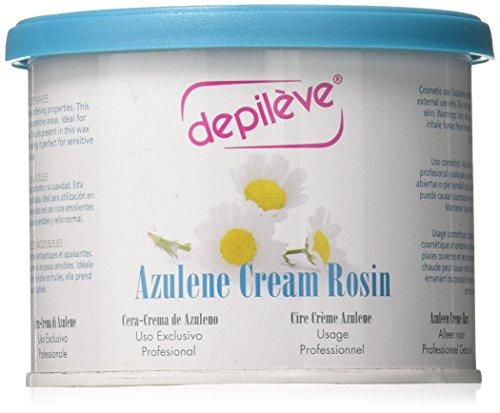 Depileve Azulene Cream Rosin, Azulen Creme Wachs, für ein professionelles Waxing, Haarentfernung, 400 Gramm