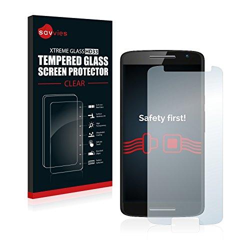 Savvies Panzerglas kompatibel mit Motorola Moto X Play - Echtglas Schutzfolie 9H