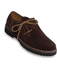 ALM de hombre Tracht Zapatos de cuero auténtico en diferentes colores, color, talla 45