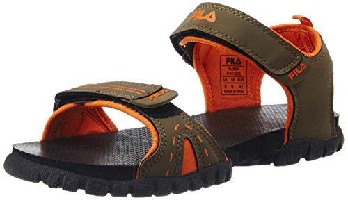 Fila Men's Alsek Lt Brown and Orange Rubber Sandals and Floaters - 9 UK