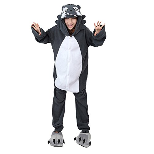 Imagen de molly kigurumi pijamas traje disfraz animal adulto animal pyjamas cosplay homewear lobo xl