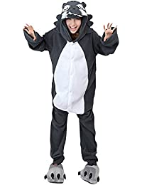 Molly Kigurumi Pijamas Traje Disfraz Animal Adulto Animal Pyjamas Cosplay Homewear Lobo S