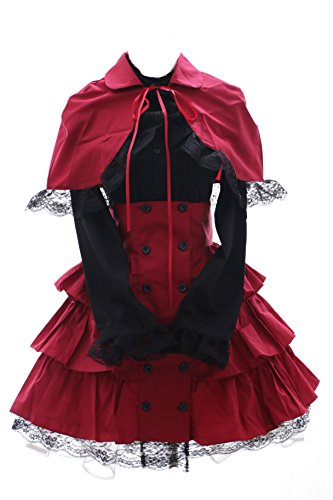 Lolita Rock (JL-574-1 rot Classic Gothic Lolita Cape Bluse Rock Kostüm Kleid dress Cosplay (EUR Gr. XXL))