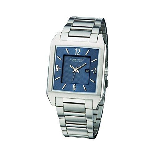 Kenneth Cole Gents Blue Dial Calendar Dress Watch KC3742 & Alarm Clock Gift Set