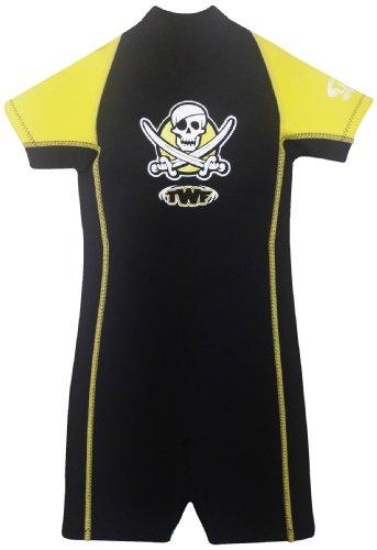 TWF Piraten-Neoprenanzug für Kinder - gelb, 2-3 Jahre, K0
