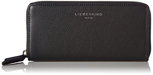 Liebeskind Berlin Damen Sallyw7 Vifoil Geldbörse, Schwarz (Oil Black), 3 x 10 x 19 cm