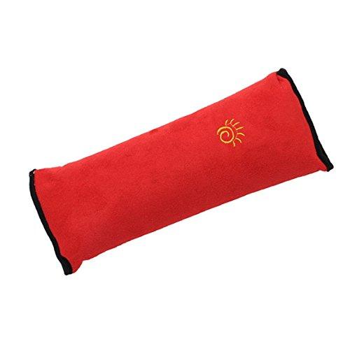Hengsong Autokissen kinder Sicherheitsgurt mit Schulterpolstern Sicherheitsgurt für Kinder (Rot)