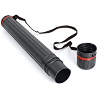 1.3m x 125mm Quickdraw Teletube Large Adjustable Telescopic Artist Drawing Tube with Carry Strap