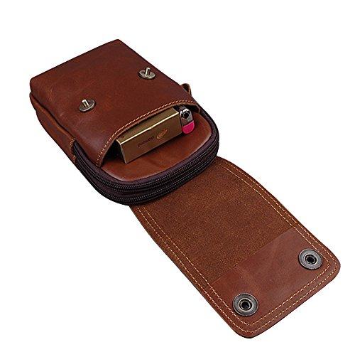 Genda 2Archer Mini Bolso de Cuero de la Correa del Bolso del Teléfono Móvil de los Ganchos Para los Hombres (11cm * 4cm * 17cm)