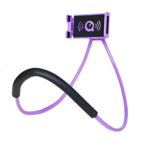 loonBonnie Diseño práctico Colgador de Cuello Soporte para teléfono móvil Soportes Universal Flexible 360   Grados de rotación de Montaje en Cama para teléfonos Inteligentes
