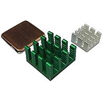 gorillapi Disipador de calor para Raspberry Pi 2Model B/Pi 3. 3pc Set (x1x2) de aluminio con Pre instalado de cobre del disipador–ofrece un importante ventaja de refrigeración.