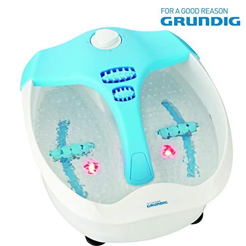 GRUNDIG FM605 Fußsprudelbad mit Massage und Heizung, Fußsprudelbad, Vibrations- und Sprudelmassage, elektrisches Fuß Spa