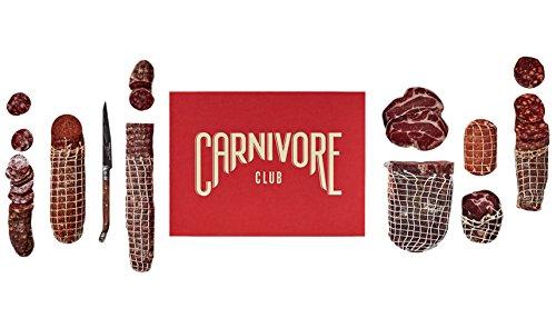 Carnivore Club Geschenk-Box - Nahrungsmittelkorb, der mit Fleisch - mit Cracker und Käse und Wein (Ente Geräucherter)