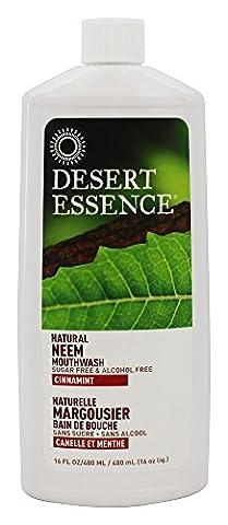 Natural Neem Mouthwash, Cinnamint, 16 fl oz (480 ml) - Desert Essence
