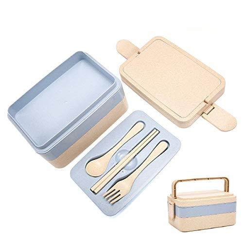Pathonor Lunchbox 3 Layer mit Griff Bento Box Kann in Eine Mikrowelle, Kühlschrank Brotdose mit...