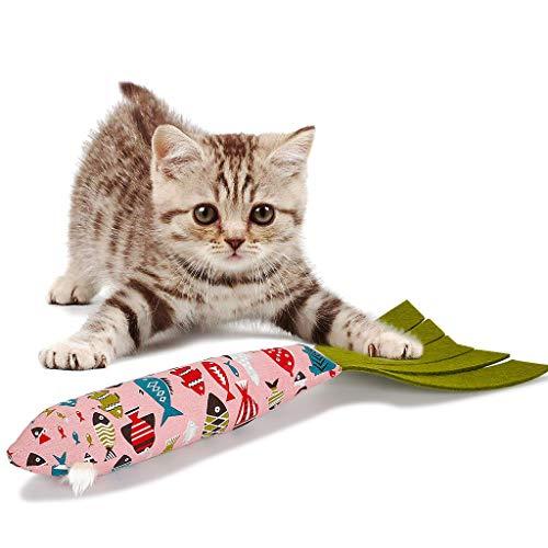 JIJI886 Spielzeug mit Katzenminze Katze Interaktive Spielzeug Katze Fisch Spielzeug Plüsch Katze Kauen Spielzeug Set für Katze/Kitty/Kätzchen ()