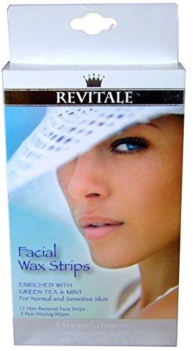 revitale Gesichts- Wachs Streifen (12 Streifen+2 Tücher) (Tuch-wachs-streifen)