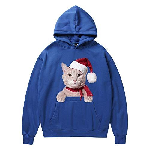Kanpola Weihnachten Unisex Kapuzenpullover Weihnachtspullover 3D Druck Herren Damen Pullover mit Kapuze Christmas Sweater Hoodie Sweatshirt