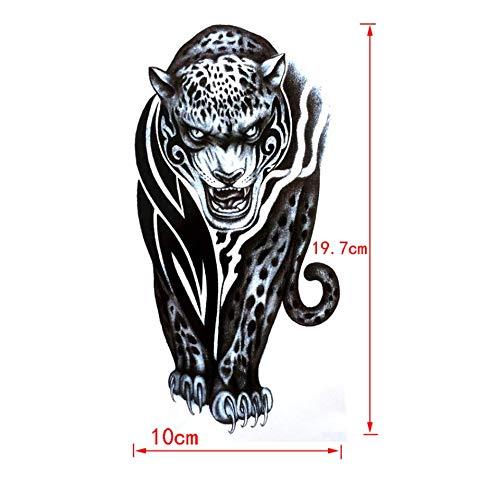 rische Cheetah Wasserdicht Tattoo-Aufkleber Tattoo-Aufkleber Tier Harajuku Tätowierung-Körper-Kunst-Temporäre Tätowierung ()